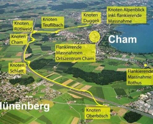 Flankierende Massnahmen Cham-Hünenberg