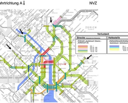 Betriebsstabilität Liniennetz VBZ / Öffentlicher Verkehr