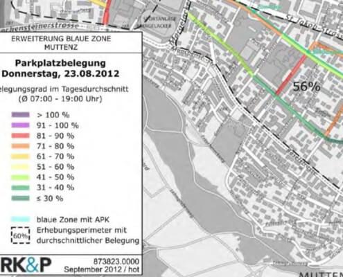 Parkraumbewirtschaftung Blaue Zone Muttenz BL