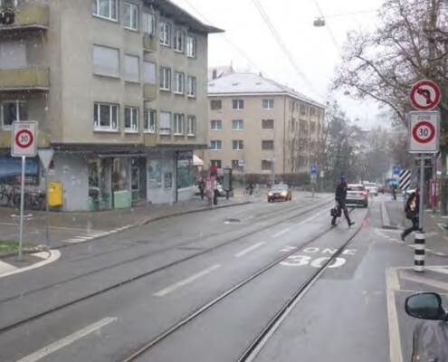 Verkehrsberuhigung Monijoustrasse Bern