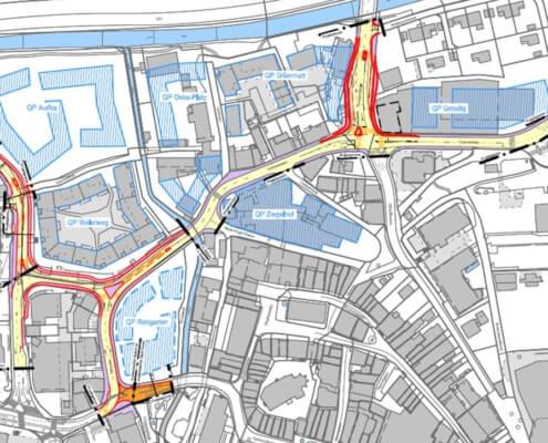 Strassennetz Liestal BL
