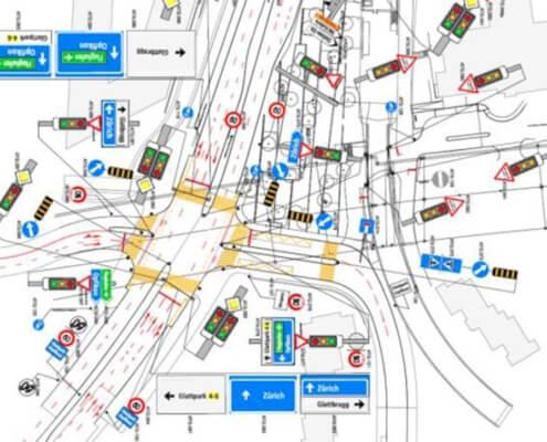 Eteappen 1a2 und 1b Glatttalbahn ZH / Signalisation & Markierung