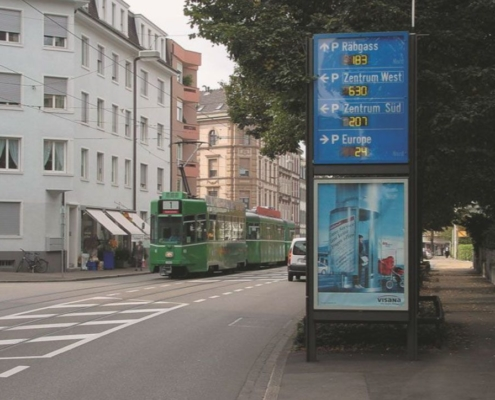 Parkleitsystem Basel BS