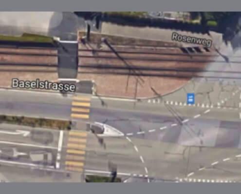 LSA Fleischbachstrasse BS / Kreuzung Schiene Strasse