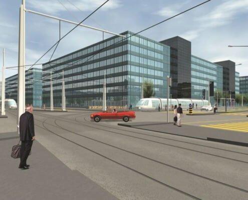 Kreuzung Schiene / Strasse, Glattal ZH