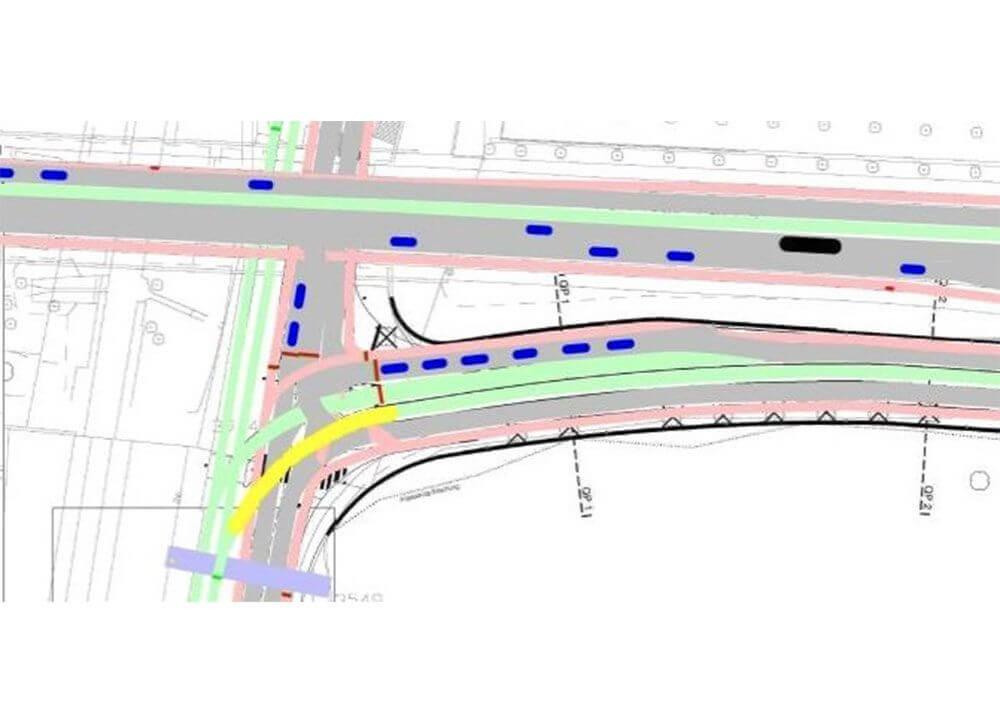 Bahnübergang Margarethenstich BS / Kreuzung Schiene Strasse