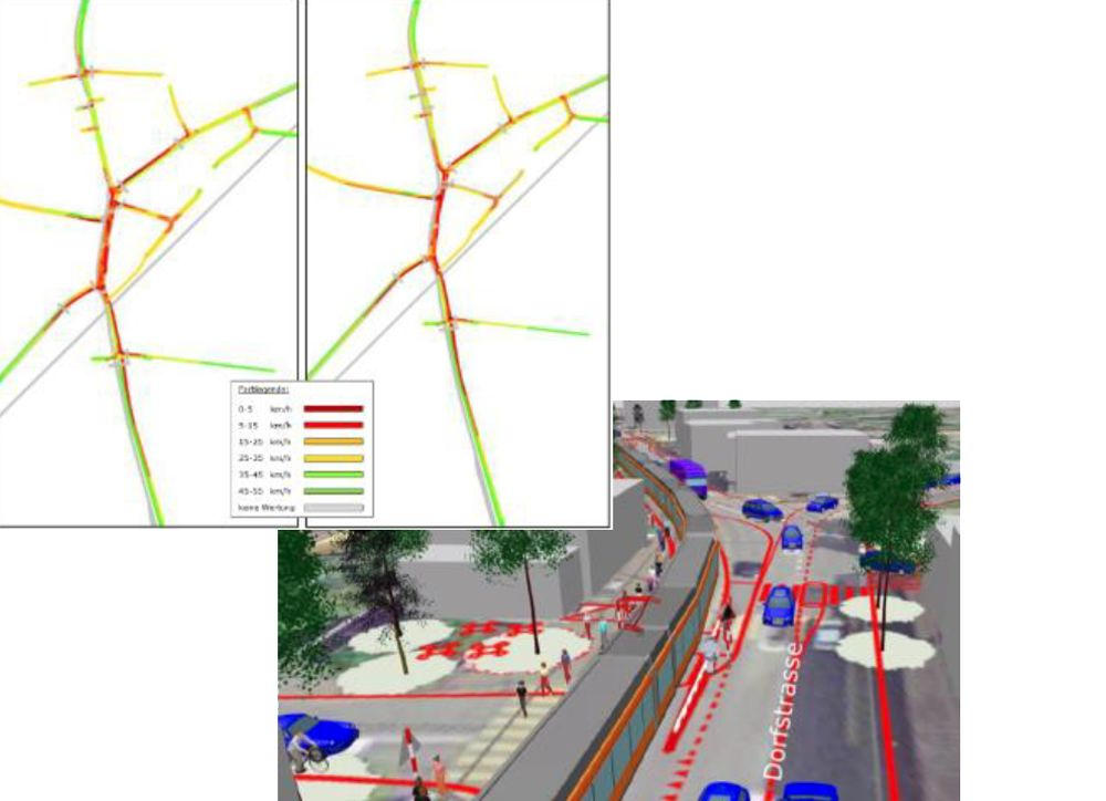 Simulation Machbarkeit Oberentfelden AG / VISSIM